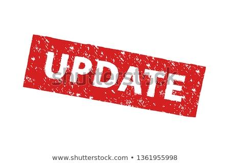 Aktualizacja słowo drewniany stół działalności drewna szkoły Zdjęcia stock © fuzzbones0