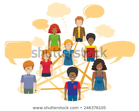 Network of people with empty callouts Stock photo © bluering