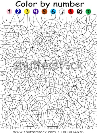Coloring worksheet with an old man Stock photo © bluering