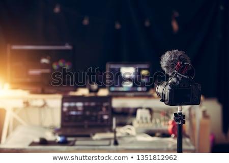 vintage · câmera · de · filme · isolado · branco · abstrato · filme - foto stock © berczy04