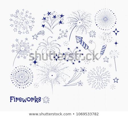 Firework sketch icon. Stock photo © RAStudio