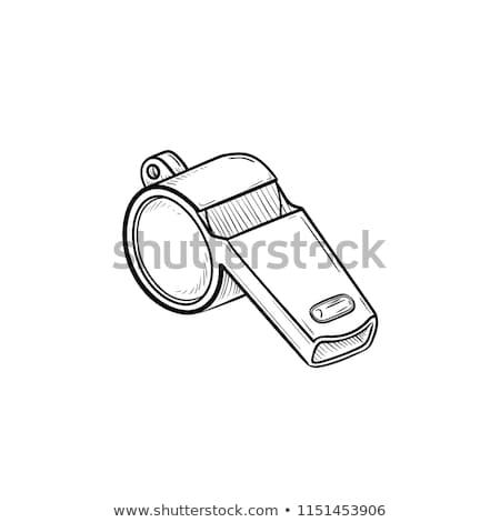 assobiar · esboço · ícone · vetor · isolado - foto stock © rastudio