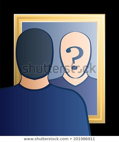 Who am I, self-knowledge concept Stock photo © stevanovicigor