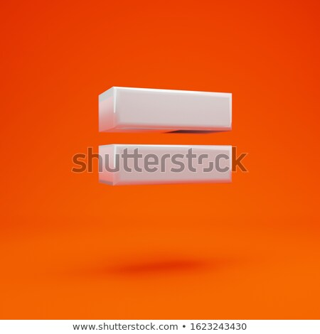 Equally sign. 3D Stock photo © djmilic