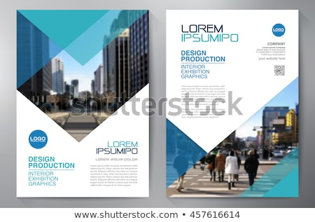 company brochure flyer template with abstract shape Stock photo © SArts