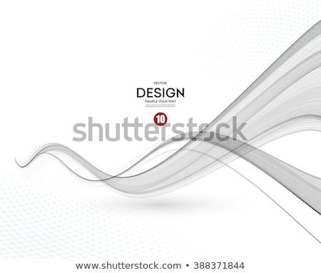 Falisty linie naszywka niebieski szary kolor Zdjęcia stock © SArts