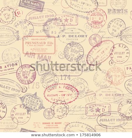 Klasszikus képeslapok Párizs Franciaország augusztus 14 Stock fotó © hsfelix
