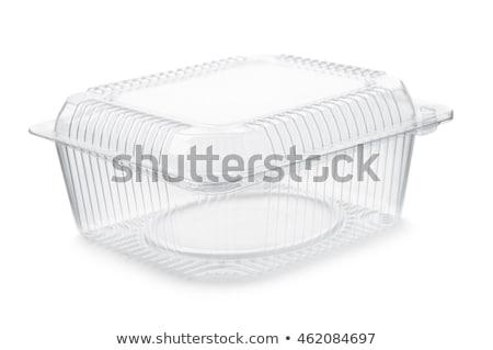Plastik gıda depolama konteyner geri dönüşüm boş Stok fotoğraf © dezign56