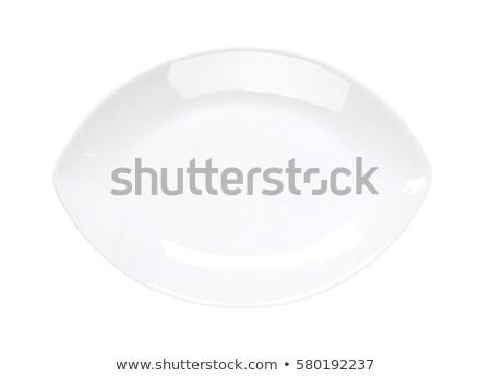 Oval coupe prato branco limpar prato Foto stock © Digifoodstock