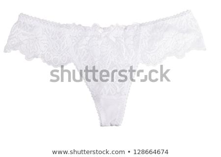élégante dentelle culottes bleu isolé blanche Photo stock © sapegina