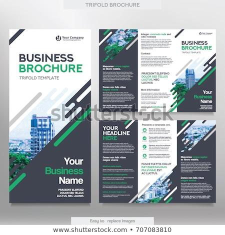 Modern prospektus terv üzlet részletek iroda Stock fotó © SArts