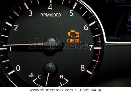 Laranja verificar motor indicador luz extremo Foto stock © albund