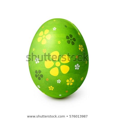 easter eggs in front of pattern stock photo © wavebreak_media