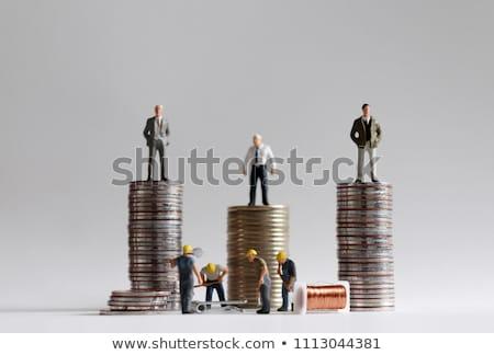 Jövedelem 3d render mutat kettő hatalmas különbség Stock fotó © albund