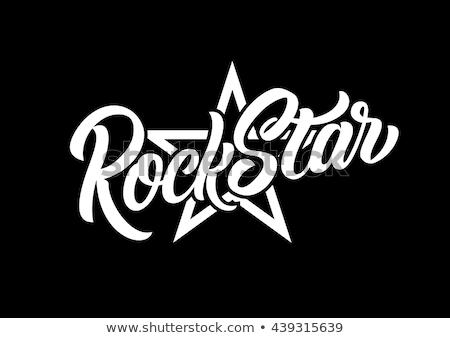 rock · stempel · zwarte · grunge · elektrische · gitaar - stockfoto © andrei_