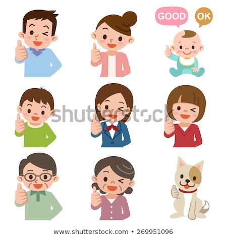 smiling young businessman child boy gesturing thumb up success sign stock photo © ia_64