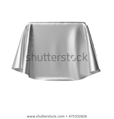 Box covered with silver fabric. Stock photo © pakete