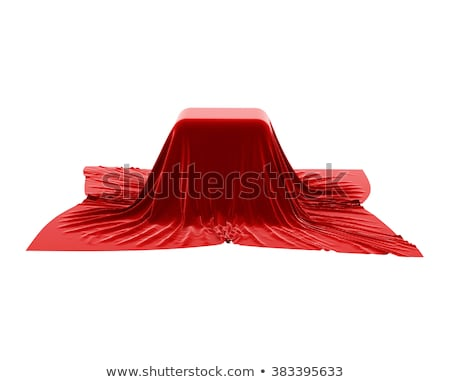 Box covered with red velvet fabric. Stock photo © pakete
