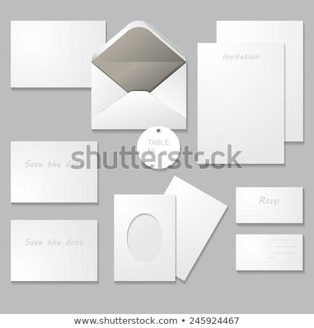 Temizlemek düğün davetiyesi kart kurtarmak tarih şablon Stok fotoğraf © SArts