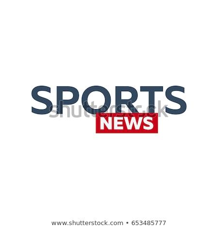 Mass media. Sports news logo for Television studio. TV show. Stock photo © Leo_Edition