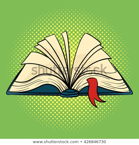 Vector hand drawn pop art illustration of book. Open book. Stock photo © curiosity