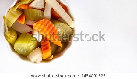 焼き · ズッキーニ · ズッキーニ · フォーク · マクロ - ストックフォト © digifoodstock