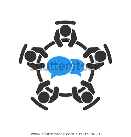 business meeting icon flat design stock photo © wad