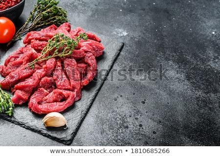 Ruw rundvlees hout ruimte rood boord stockfoto yelenayemchuk - Kleur rood ruimte ...