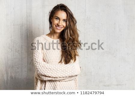 örömteli · látványos · báj · lány · pop · art · retro - stock fotó © studiostoks