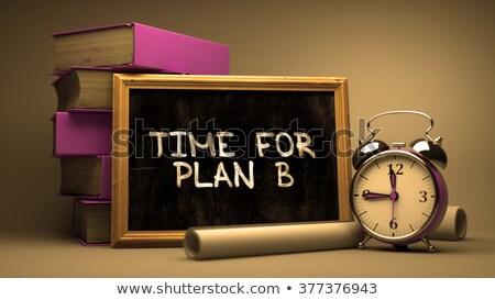 время plan b рисованной доске расплывчатый изображение Сток-фото © tashatuvango