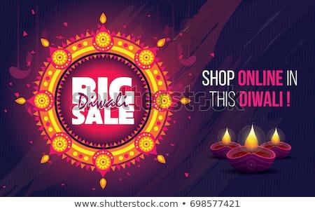 creative diwali celebration poster festival greeting card design Stock photo © SArts