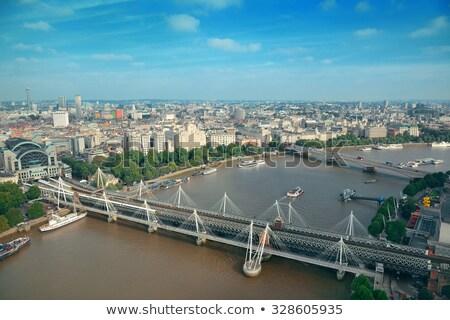 Köprü nehir thames gökyüzü şehir seyahat Stok fotoğraf © chrisukphoto
