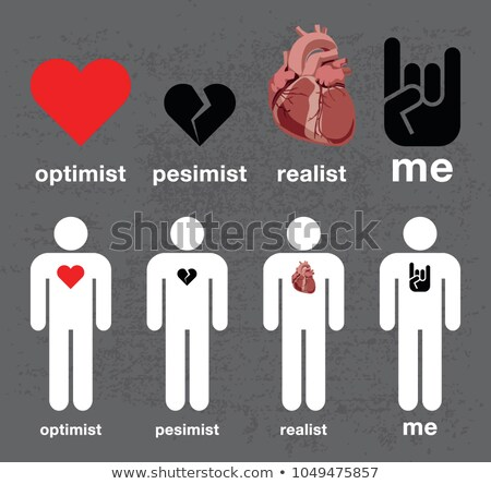 Optimista vélemény üveg víz férfi emberi Stock fotó © Olena