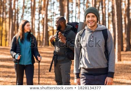 multiethnic friends in forest Stock photo © LightFieldStudios