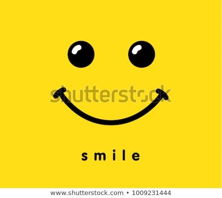 Virág mosoly arc mosolygós arc citromsárga pitypangok Stock fotó © FOTOYOU