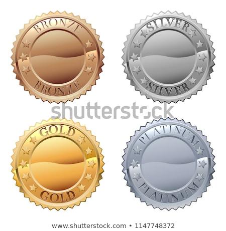 Foto stock: Prêmio · ouro · prata · vencedor · medalha