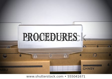 file folder labeled as document regulations stock photo © tashatuvango