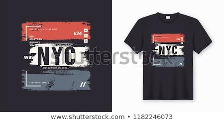 Stock fotó: New · York · póló · grafika · vektor · sport · visel