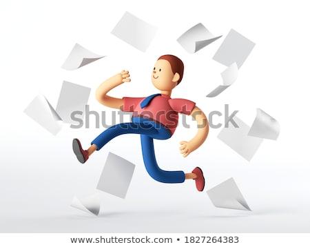 Informe escritor Trabajo periódico pequeño publicidad Foto stock © tashatuvango