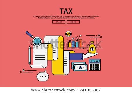üzlet · adó · takarékosság · pénzügyi · előkészítés · citromsárga - stock fotó © vinnstock