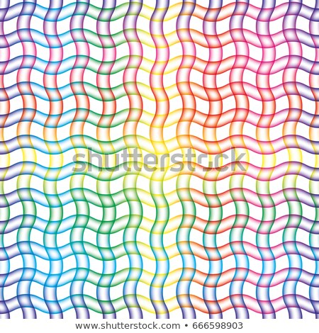 Wavy blured wavy line grid seamless colorful background. Stock photo © almagami