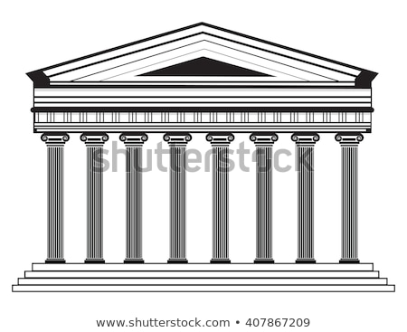large greek temple antique architecture vector illustration of stock photo © popaukropa