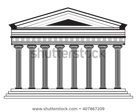 Grande grego templo antigo arquitetura velho Foto stock © popaukropa