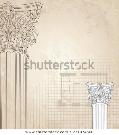 греческий колонки вектора бесшовный архитектурный шаблон Сток-фото © popaukropa