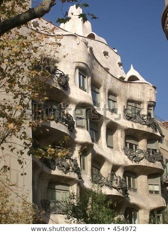 фасад Барселона Испания 2016 зеленый деревья Сток-фото © vapi