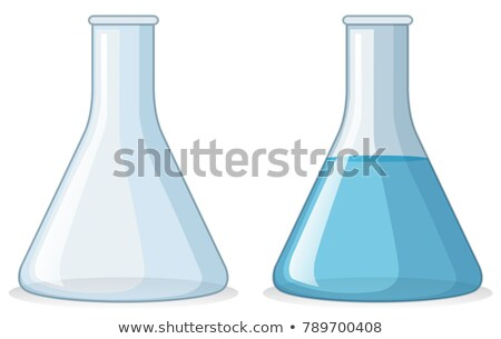 Two beakers with and without water Stock photo © bluering
