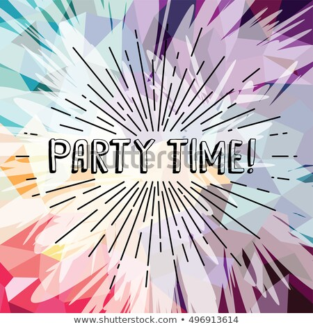 party time text show sunrays retro theme Stock photo © vector1st