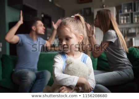 çocuk kız gözaltı kavga ebeveyn örnek Stok fotoğraf © lenm
