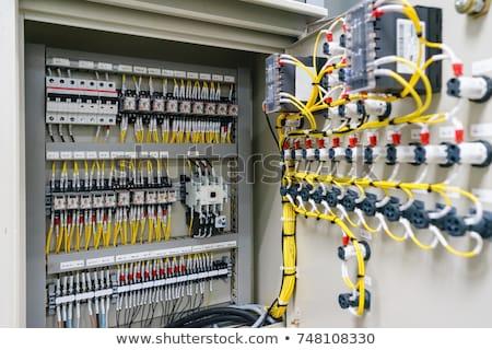 Kontroli centrum płyta produkcji przemysłowych przyciski Zdjęcia stock © popaukropa