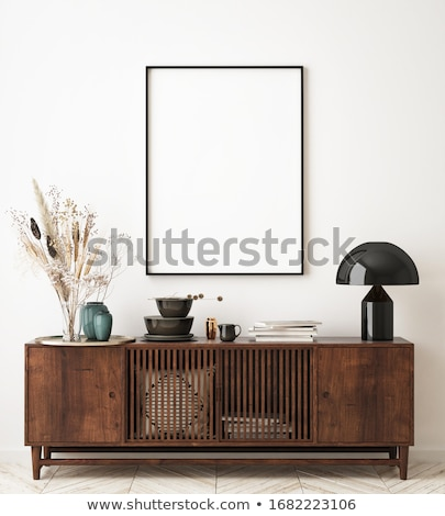 Wall with picture frame. Stock photo © biv